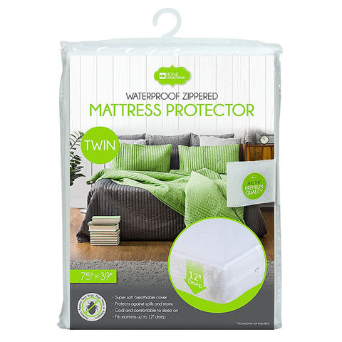 "Non Woven Mattress Cover with 12"" Zipper (4 Sizes)"