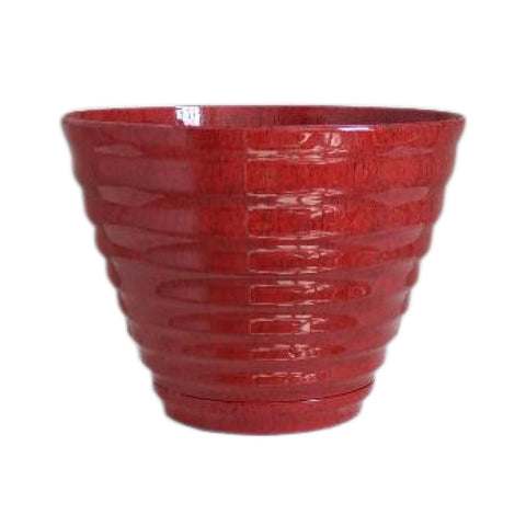 "16"" Beehive Planter with Saucer (2 Colors)"