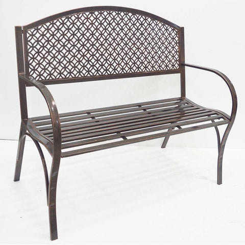 "43"" Bronze Metal Bench"