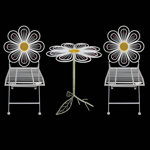 3-Piece Flower Bistro Set