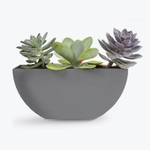 "11"" Half Moon Planter (2 Colors)"