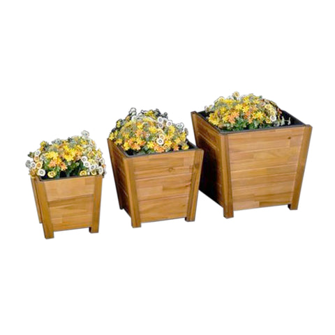 Brown Wood Planter (3 Sizes)