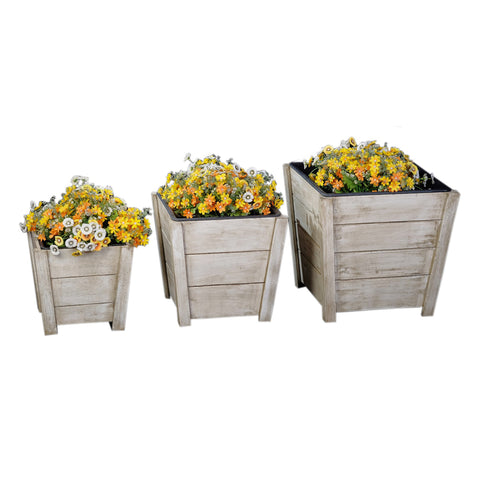 White Wood Planter (3 Sizes)