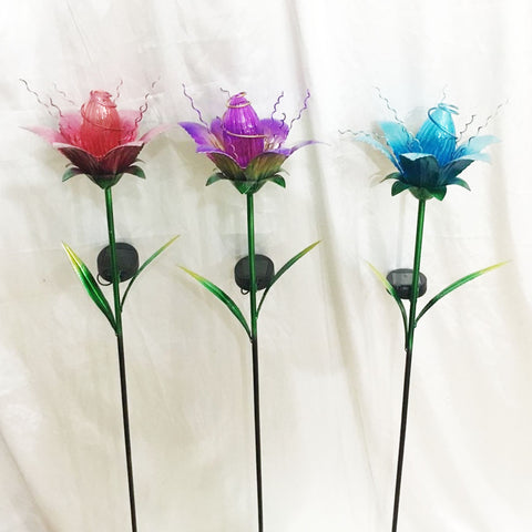 "41"" Solar Flower Stake (3 Colors)"