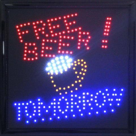 "15"" LED Free Beer Sign"