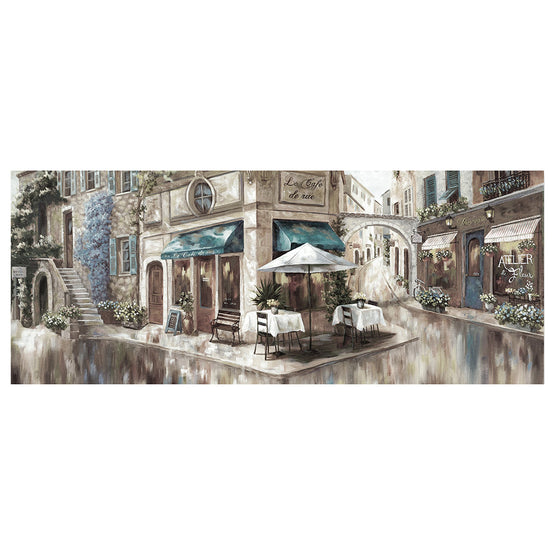 "24""x36"" La Café De Rue Embellished Canvas Art"