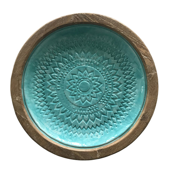 "19"" Round Aqua Wall Décor"
