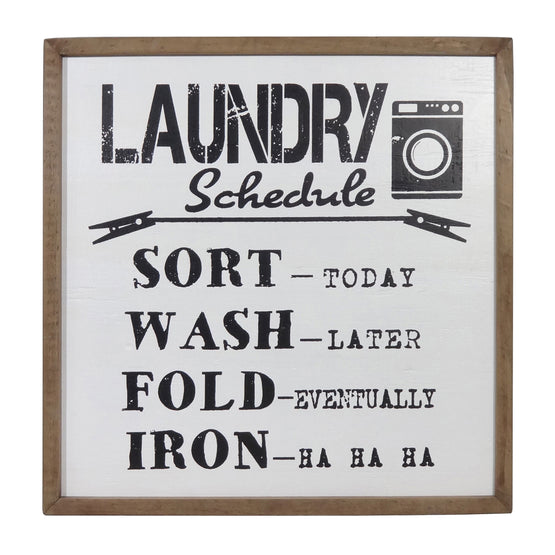 "20"" Laundry Schedule Wood Wall Décor"