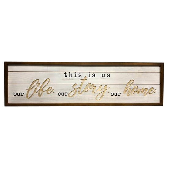 "36"" This Is Us Wood Wall Décor"