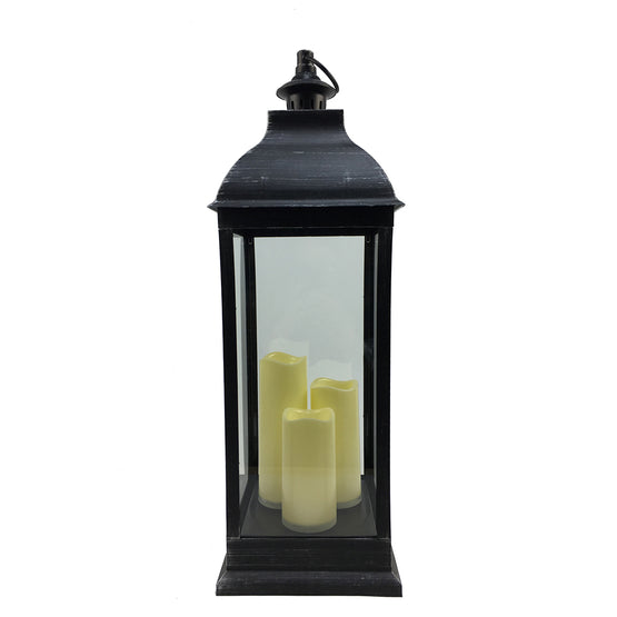 "28"" Lantern w/LED Candles (3 Colors)"
