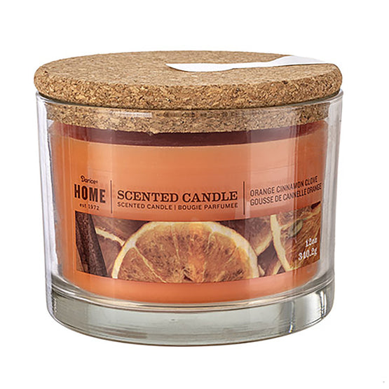 12oz 3-WickCandle Orange Cinnamon Clove