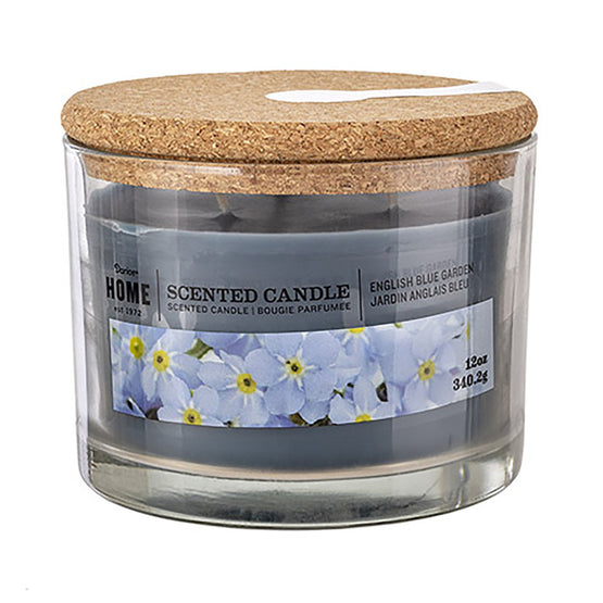 12oz 3-Wick Candle English Blue Garden