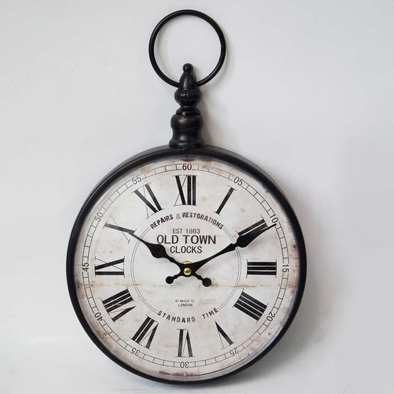 "14"" Pocket Watch Wall Clock"