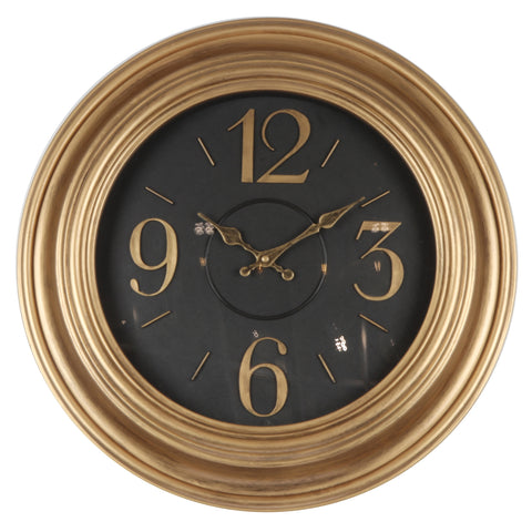 "20"" Gold Round Wall Clock"