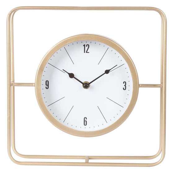 "11"" Gold Square Table Clock"