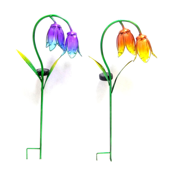 "27"" Solar Flower Stake (2 Colors)"