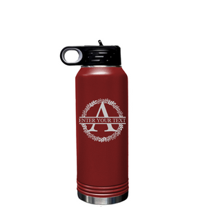 Personalize a 32 oz Insulated Water Bottle