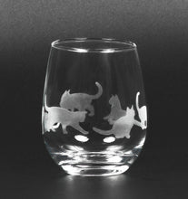 Load image into Gallery viewer, Etched Cat Glassware