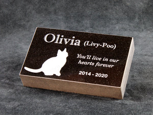 Granite Pet Memory - Rectangle Garden Marker - Personalized
