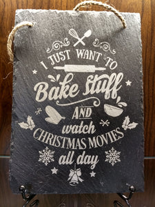 Slate Christmas Wall Hangings