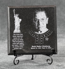 Load image into Gallery viewer, Ruth Bader Ginsburg Commemorative Granite Plaque