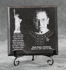 Ruth Bader Ginsburg Commemorative Granite Plaque