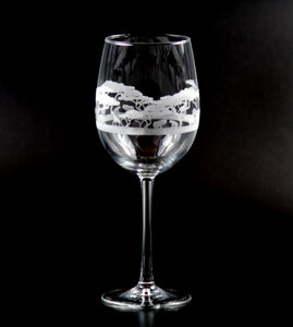 African Serengeti Wine Glass Set