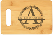 Load image into Gallery viewer, Bamboo Cutting Board (Large Monogram)