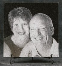 Load image into Gallery viewer, Etched Granite Photo Plaque (square tile)