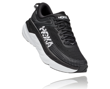 Women's Hoka Bondi 7- Black/White