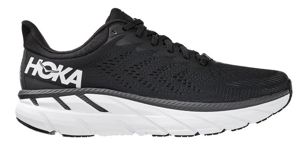 Men's Hoka Clifton 7- Black/White