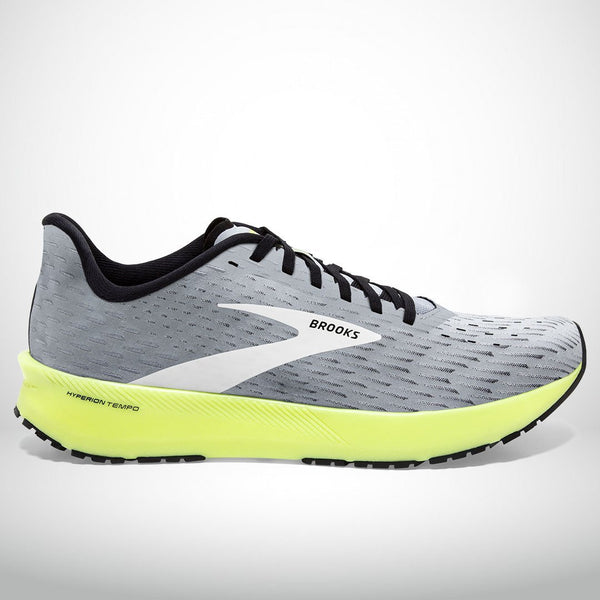 Men's- Brooks Hyperion Tempo- Grey/Black/Nightlife