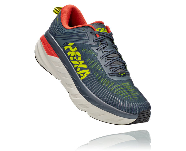Men's Hoka Bondi 7- TURBULENCE / CHILI