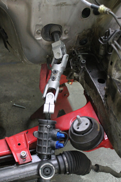 Project Ares - Steering setup on the Super e30