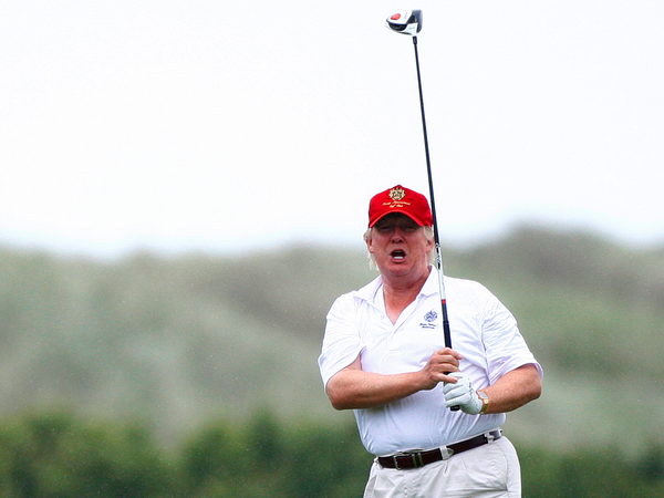 How many times has President Donald Trump played golf while in office?