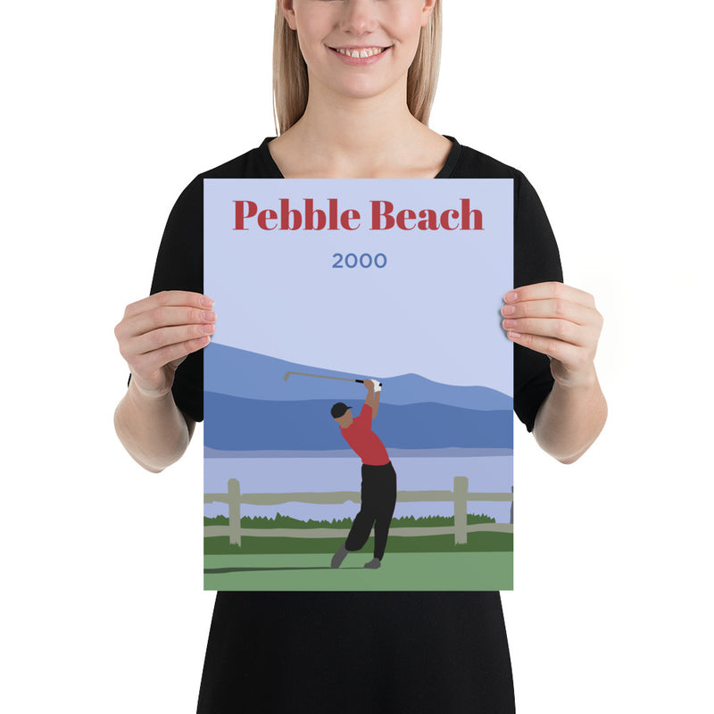 Tiger 2000 Pebble Beach Poster - Golfer Paradise