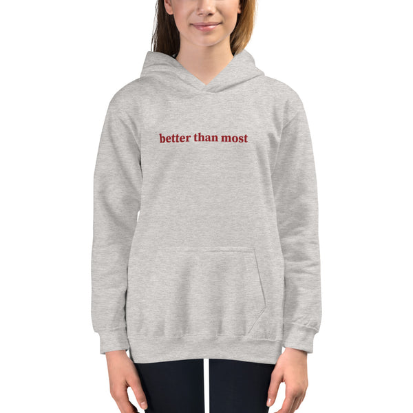 Better Than Most Kids Hoodie - Golfer Paradise
