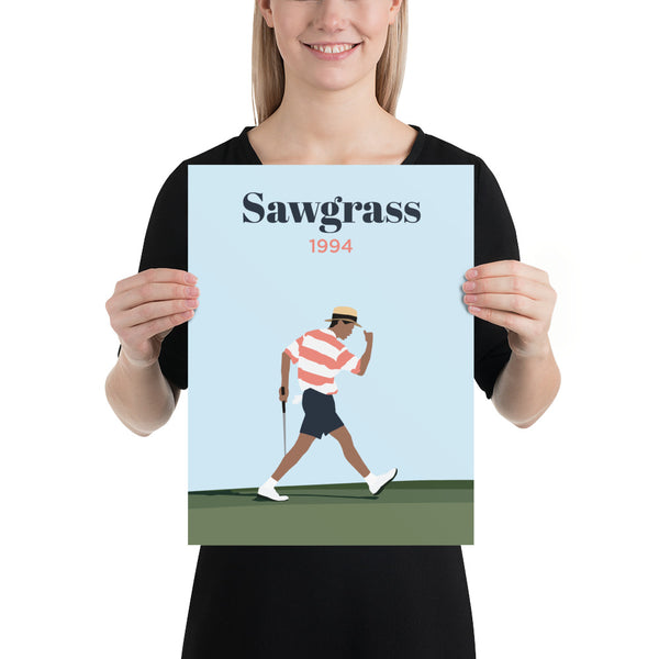 Tiger 1994 Sawgrass Poster - Golfer Paradise