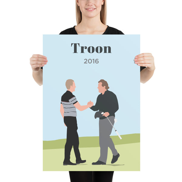 Stenson & Mickelson 2016 Troon Poster - Golfer Paradise