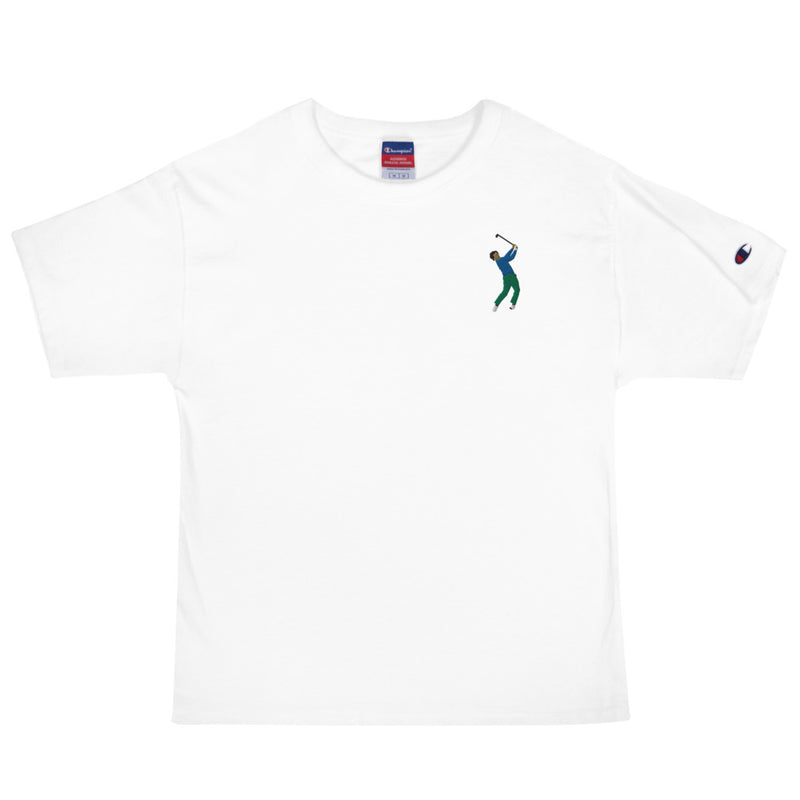 Seve Embroidery Champion T-Shirt - Golfer Paradise
