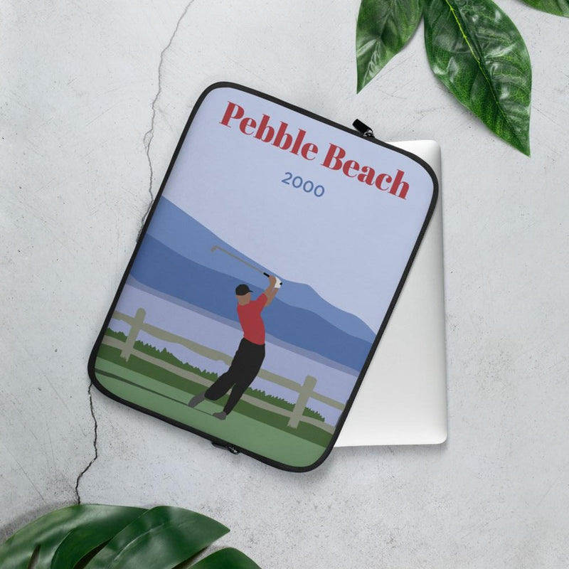Tiger Pebble Beach 2000 Laptop Sleeve - Golfer Paradise