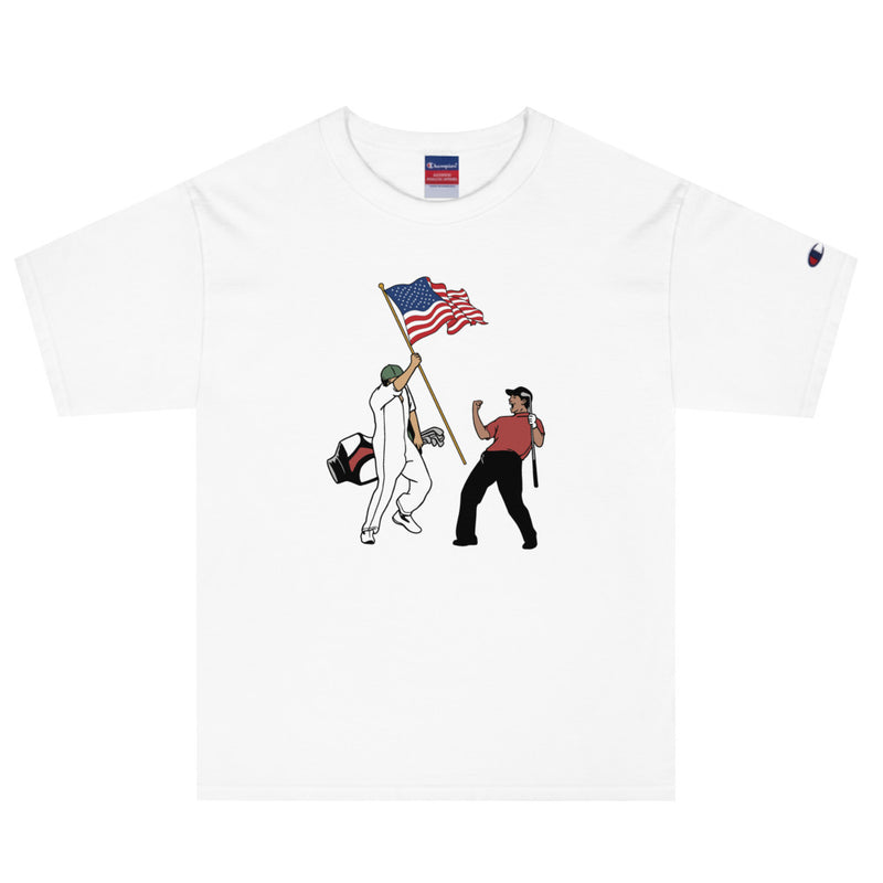 Tiger USA Flag Champion T-Shirt - Golfer Paradise