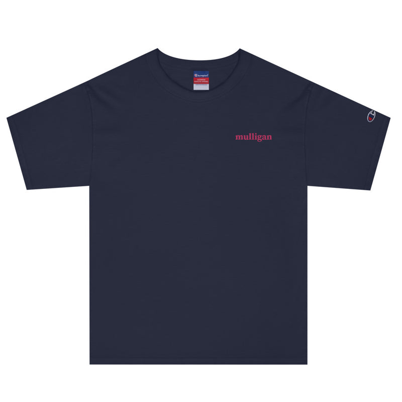 Mulligan embroidery Champion T-Shirt - Golfer Paradise
