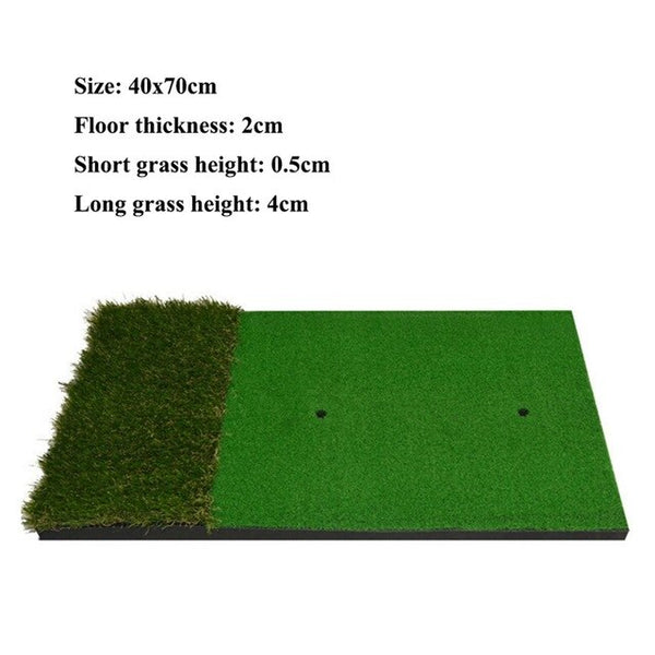 Golf Mat with Long Grass 15x27in - Golfer Paradise