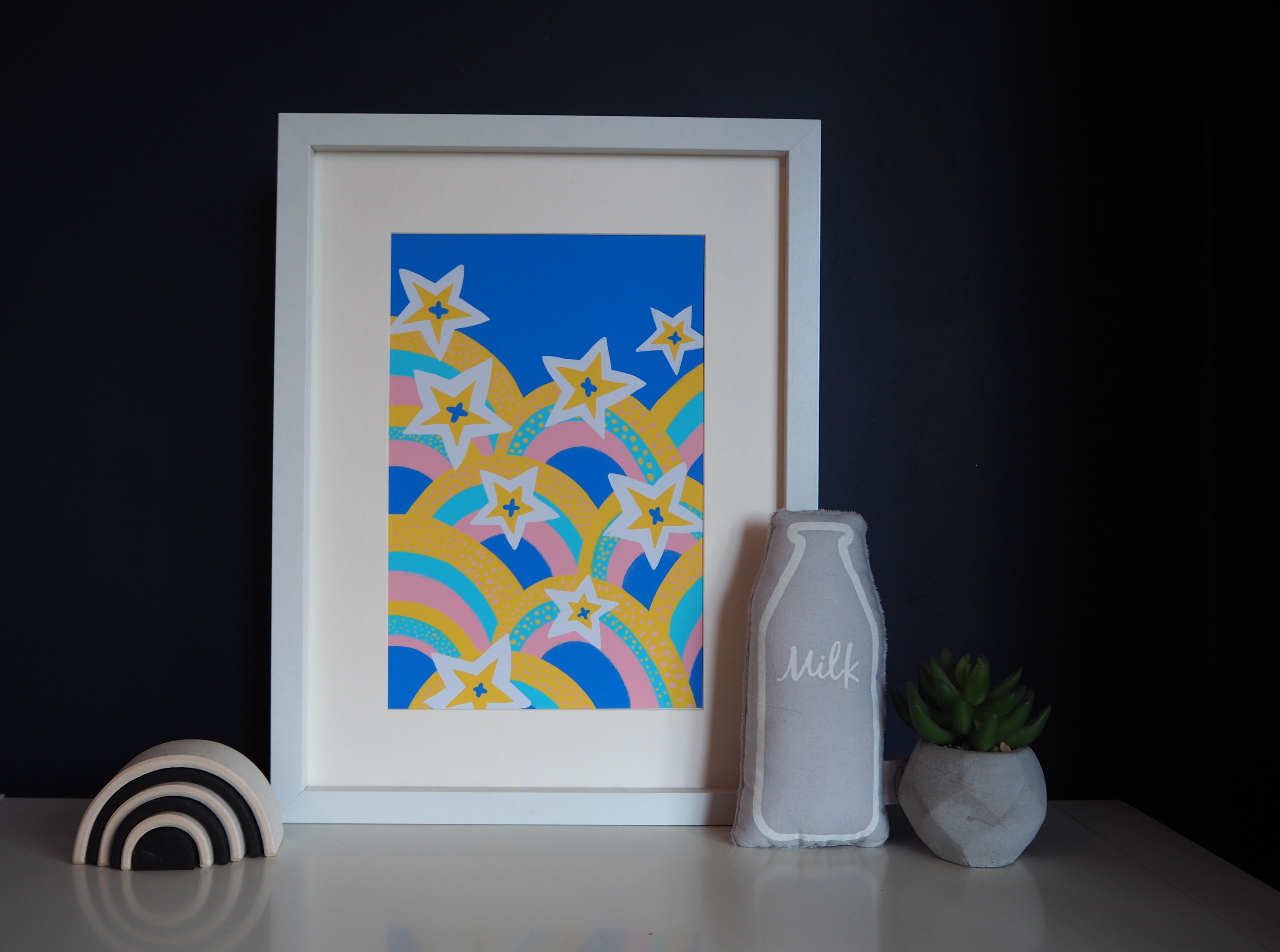 starbow stars and rainbow home prints elle poulson