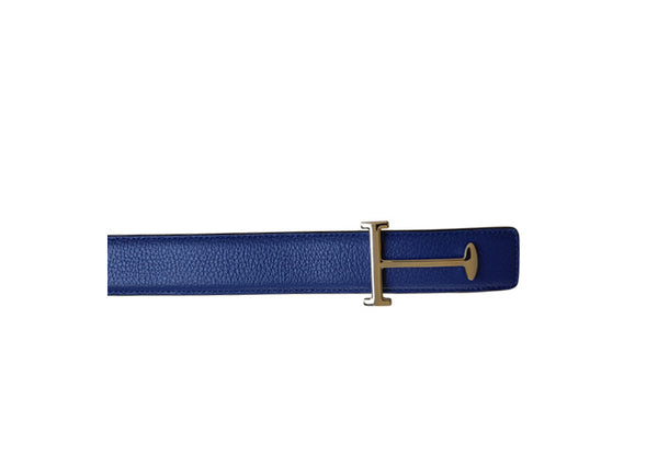 BELT SOFFIANO LIGHT BLUE LEATHER