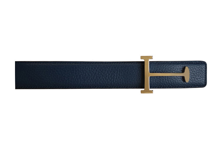 BELT SOFFIANO DARK BLUE LEATHER