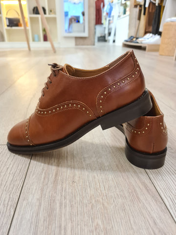 Derbies Elisa Cuir Luxe Whiskie