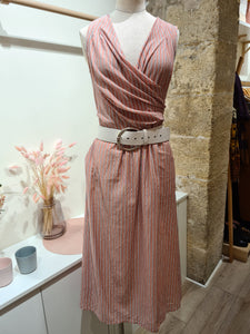 Robe Rayures roses