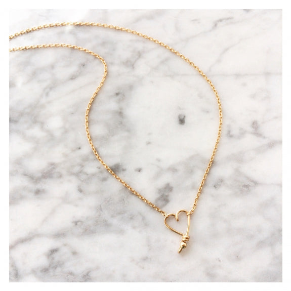 Collier chaine coeur